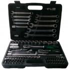 Набор инструментов СЕРВИС КЛЮЧ 82 предмета (зеленый) 71082