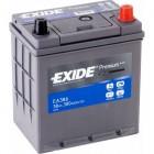 АКБ EXIDE 38Ач 300A 187x127x220 MATIZ/PICANTO/MICRA 1.2/FIT 1.2 EA386