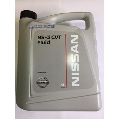 Масло трансмиссионное NISSAN CVT NS3 в вариатор синт. 5л. пласт уп. KE90999943R